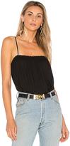Krisa Smocked Cami in Black. - size L (also in M,S,XS)
