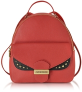 Love Moschino Double Flap Color Block Eco Leather Backpack