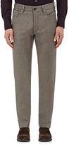 Ermenegildo Zegna Men's Wool-Blend Flannel Trousers-TAN