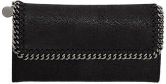 Stella McCartney Black Falabella Flap Wallet