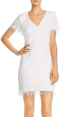 Aidan Mattox Sequin Fringe Shift Dress