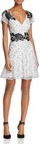 Aidan Mattox MD1E201162 Keyhole Floral A-Line Dress