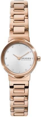 Skagen Freja Rose Goldtone Stainless Steel Crystal Bracelet Watch