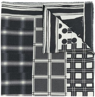 Pierre Louis Mascia Mix-Print Wool Scarf
