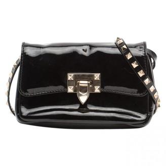 Valentino Guitar Rockstud Black Patent leather Handbags