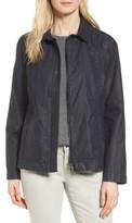 Eileen Fisher Petite Women's Waxed Cotton Swing Jacket