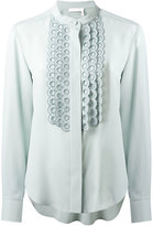 Chloé mandarin collar shirt - women - Silk - 38