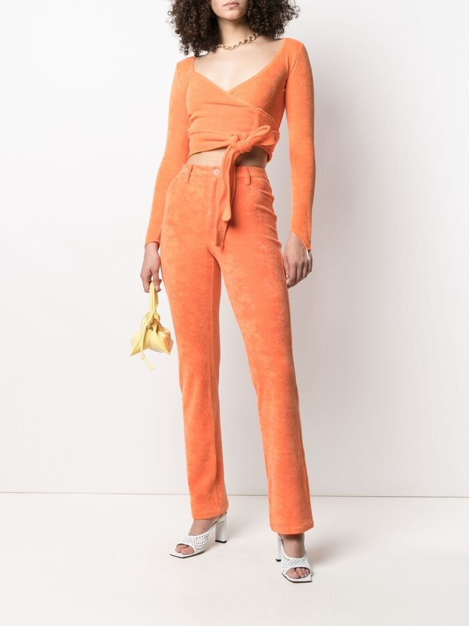 Thumbnail for your product : MAISIE WILEN Mockumentary straight-leg trousers
