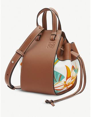 Loewe x Paula's Hammock mini leather and canvas bag