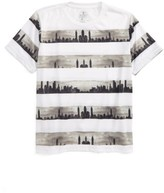 Kid Dangerous Boy's Skyline Stripe Print T-Shirt