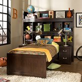 American Woodcrafters Smart Solutions Twin Bookcase Bed with 2 Nightstands