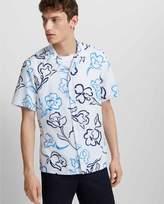 Club Monaco Camp Collar Jardin Bloom Shirt