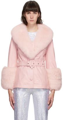 Saks Potts Pink Fur Shorty Jacket