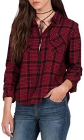 Volcom Lodge Life Plaid Top