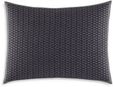 """Vera Wang Scribble Print Textured Embroidered Decorative Pillow, 12"""" x 16"""""""
