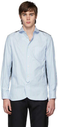 Junya Watanabe Blue and Pink Striped Oxford Shirt