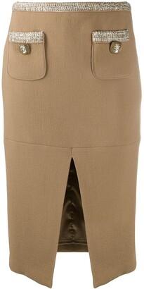 Elisabetta Franchi Front Slit Pencil Skirt