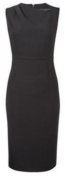 Dorothy Perkins Womens Black Asymmetrical Neck Pencil Dress, Black
