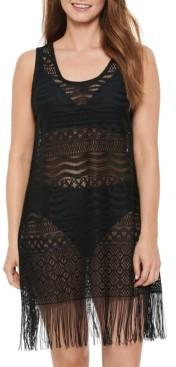 Dotti Bemus Fringe Crochet Dress Cover-Up Women's Swimsuit
