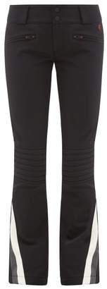 Perfect Moment Chevron-panel Flared Ski Trousers - Womens - Black