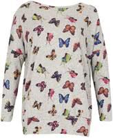 Izabel London Butterfly Print Sweatshirt