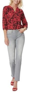 NYDJ Grace Tummy-Control Straight-Leg Jeans