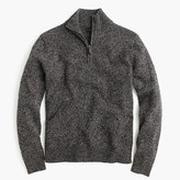J.Crew Slim marled lambswool half-zip sweater