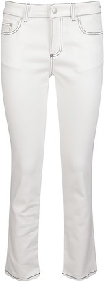Alexander McQueen Low Rise Cropped Skinny Jeans
