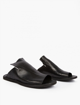 Officine Creative Black Leather Sliders