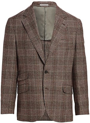 Brunello Cucinelli Wool & Cashmere Plaid Sportcoat