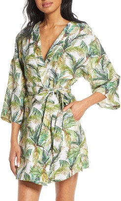 The Lazy Poet Lola Frond Print Short Robe
