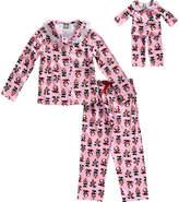 Dollie & Me Pink Panda Pajama Set & Doll Outfit - Girls