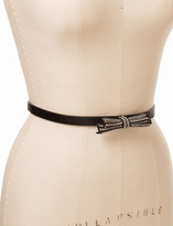 The Limited Rhinestoned Bow Skinny Belt