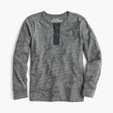 J.Crew Boys' long-sleeve vintage heather henley T-shirt