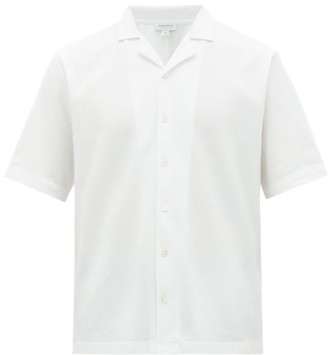 Sunspel Short-sleeved Cotton-pique Shirt - Mens - White