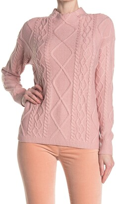 Love by Design St. Moritz Textured Mock Neck Sweater
