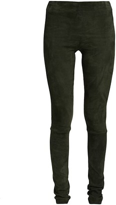 The Row Suede Moto Leggings