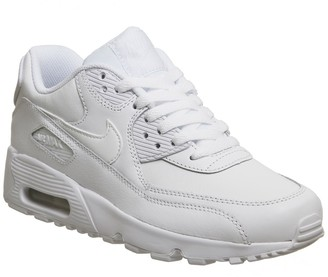 Nike 90 Trainers White Mono Leather
