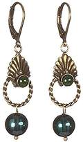 Sous le sable Pendant Earrings Brass and Glass-Sphinx Tree