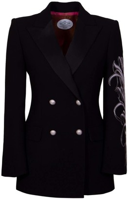 The Extreme Collection Embroidered Black Blazer Antonella