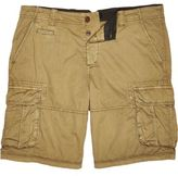 River Island MensBrown twill cargo knee length shorts