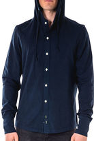 Spenglish Button-Down Hooded Shirt