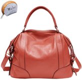 Myleas Women's Genuine Leather Handbag Hobo Tote Shoulder Bag Satchel