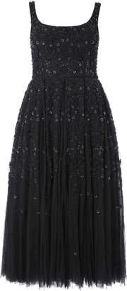 Needle & Thread Snowflake Sequin-Embellished Tulle Midi Dress