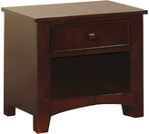 Tommy Espresso Single-Drawer Nightstand