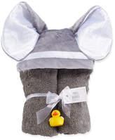 Swankie Blankie Hooded Elephant Towel, Slate