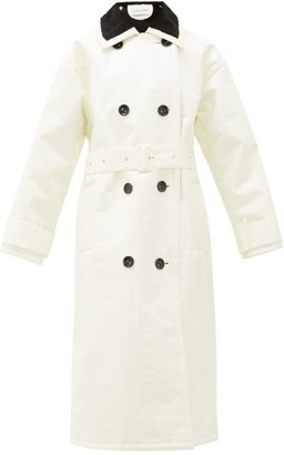 Stand Studio Marissa Coated-canvas Faux-fur Lined Trench Coat - White