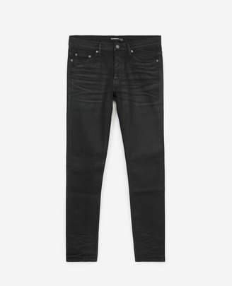 The Kooples Waxed-effect vintage black jeans w/5 pockets