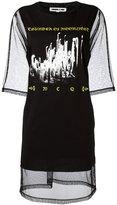 McQ by Alexander McQueen mesh T-shirt dress