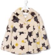 Yves Salomon Enfant star printed coat